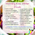 Warming Raw Foods In Winter