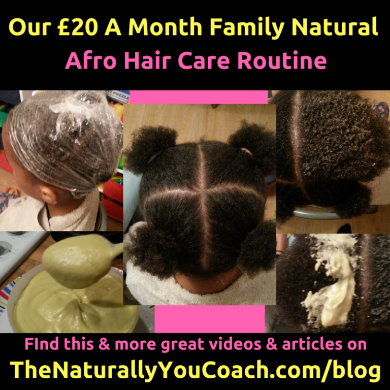 Our Family Natural Afro Hair Care Routine (Only £20 A Month)