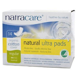 Natracare Ultra Pad With Wings Regular – 12 pads