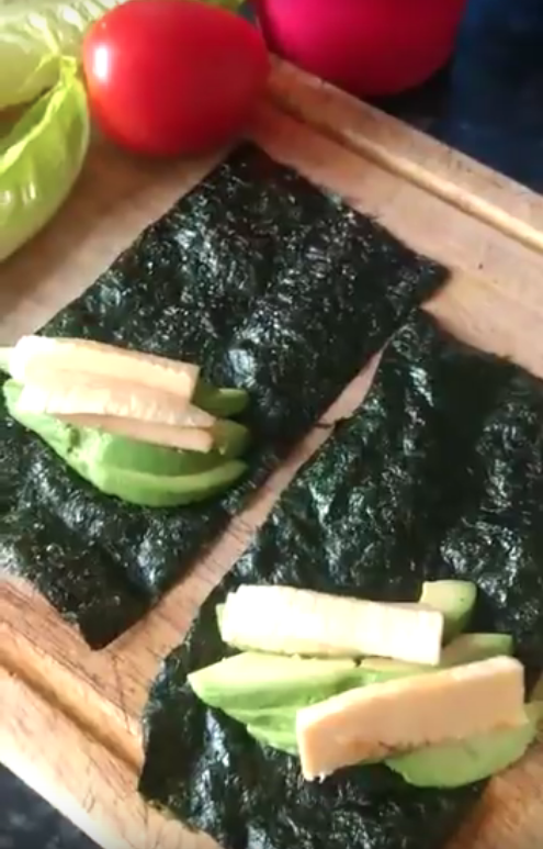 Raw Vegan Nori Wrap Lunch Idea